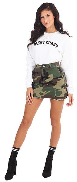 LA SISTERS LA Sisters Camouflage Skirt