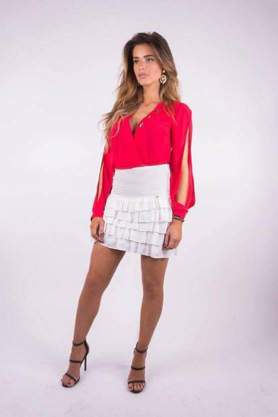Royal Temptation Blouse Mendi rood Royal Temptation Tops|Party Collectie|Erka Fashion|Royal Temptation