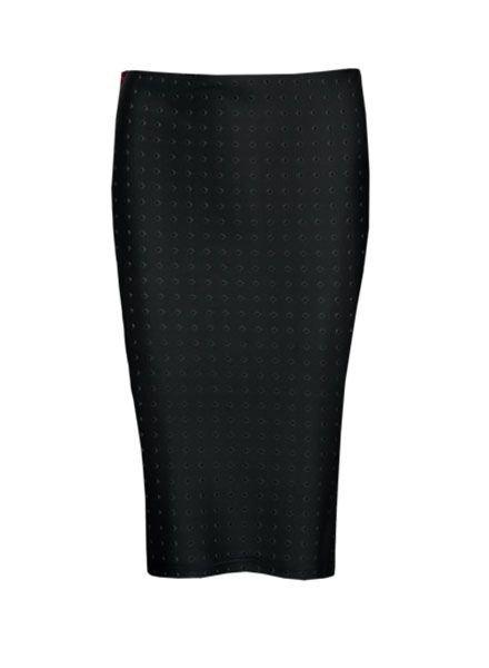 LA SISTERS Studs Scuba Skirt zwart