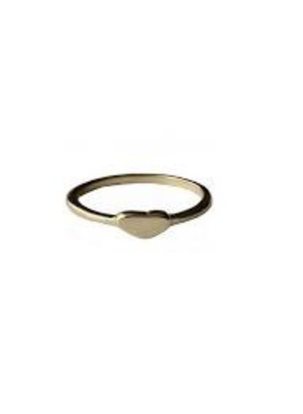 Fashion Mania Ring Hartje Goud