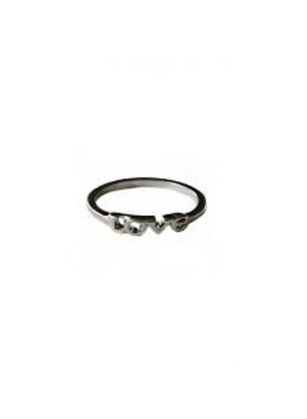 Fashion Mania Ring Love Zilver