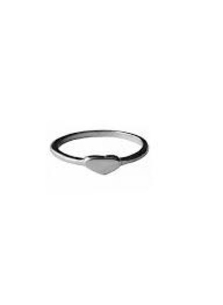 Fashion Mania Ring hartje zilver
