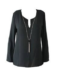 Fashion Mania Black Tuniek Fashion Mania Truien & Vesten|Tops|Party Collectie