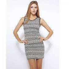 Fashion Mania Dress Black & White Fashion Mania Jurken & Rokken|Outlet