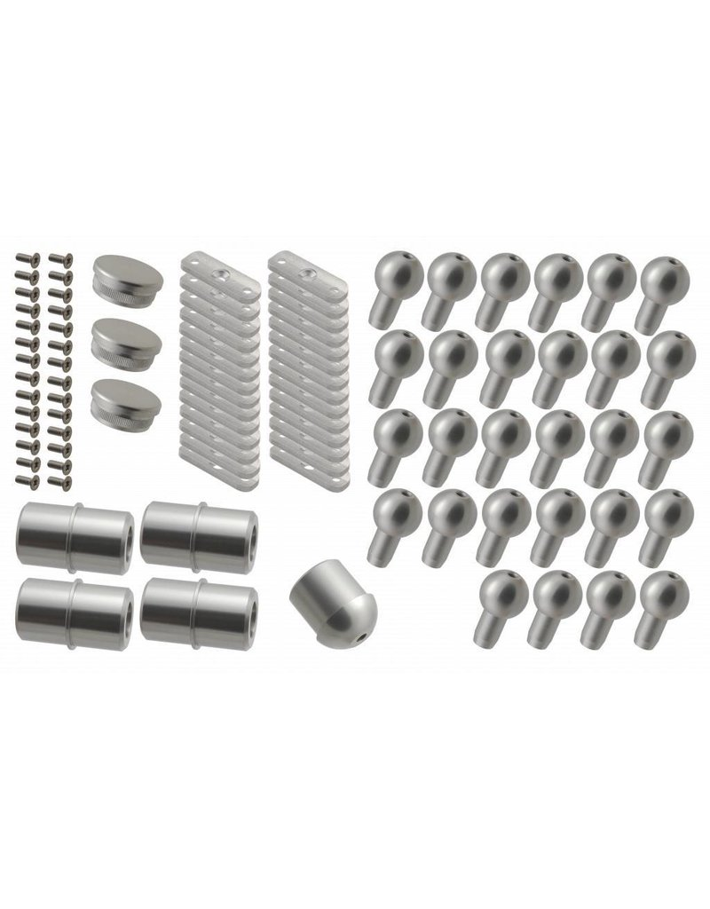 Verbindungsset Aluminium für SCARVO L 130 / 160 / 180