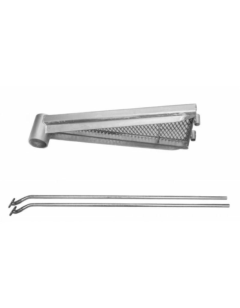 Zusatzstufe mit Aluminium- Handlaufverbinder für Außenspindeltreppe SCARVO S 160, SCARVO M 160 und SCARVO L 160