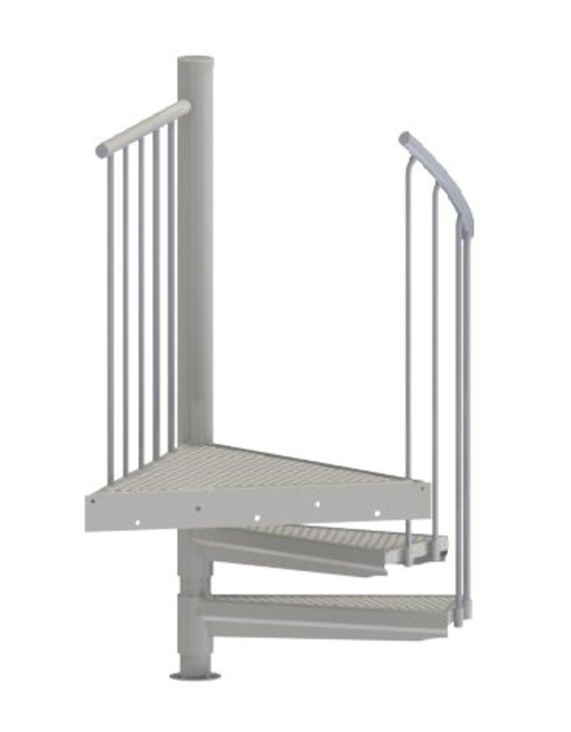 SCALANT Außenspindeltreppe SCALANT SCARVO S 160 mit Podest