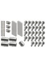 Verbindungsset  Aluminium für Außenspindeltreppe S mit Podest