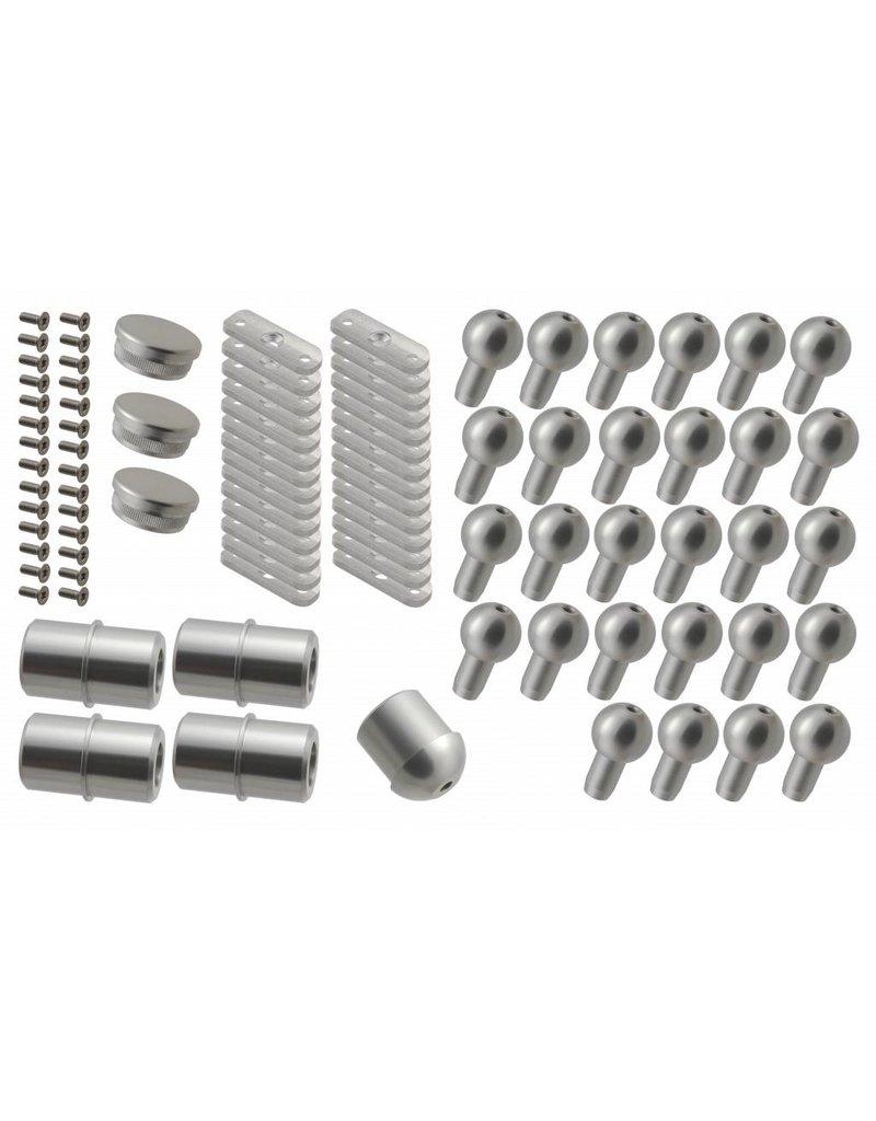 SCALANT Verbindungsset Außentreppe Aluminium für S mit Podest