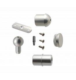 Verbindungsset Aluminium für Außentreppe S mit Podest