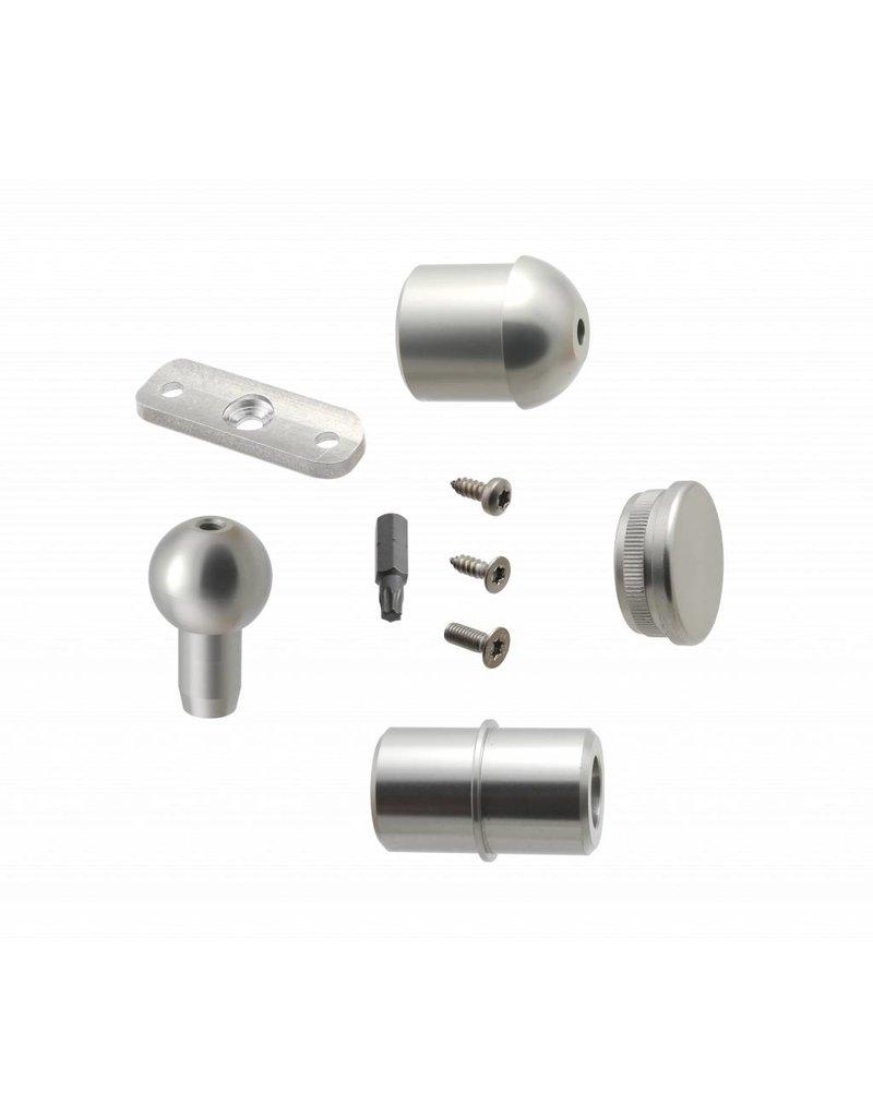 SCALANT Verbindungsset  Aluminium für Außenspindeltreppe S mit Podest