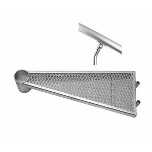Zusatzstufe mit Aluminium- Handlaufverbinder für Außentreppe ST 160 und ST 160 XL