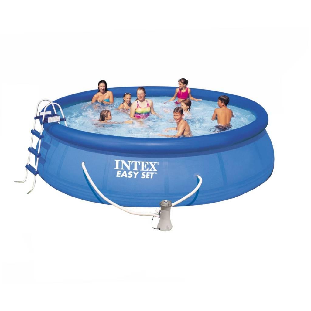 554a5c04a26154 Intex easy set zwembad 549 x 122 cm opblaasbaar zwembad, rond, pvc, hoogte