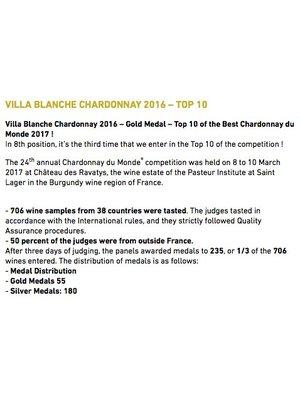 Villa Blanche Villa Blanche Chardonnay 2019