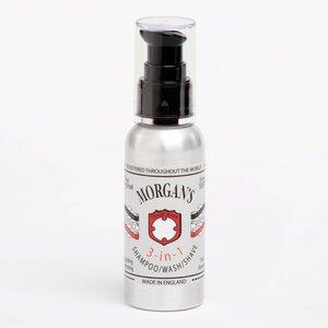 Morgan's Pomade 3 en 1 Shampooing / lavage / rasage, 100 ml