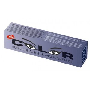 Comair Color Color wimper- en wenkbrauwverf Blauw Zwart