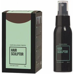 HAIR SCULPTOR Donkerbruin + Hair Sculptor Fixing Spray