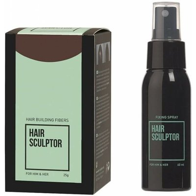HAIR SCULPTOR Dark Brown + Hair Sculptor Fixing Spray