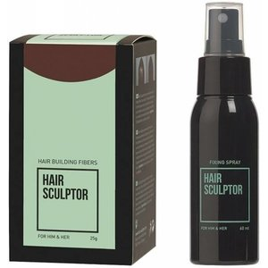 HAIR SCULPTOR Middenbruin + Hair Sculptor Fixing Spray