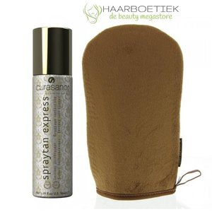 Curasano Spraytan Express, Spray bronzant, 50ml + Gant