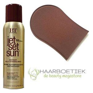Jet Set Sun Instant Bronzer Self Tanning Mist + Handschoen