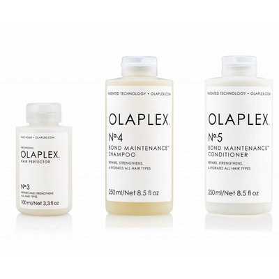 Olaplex Tripple Pack No.3 + No. 4 + n ° 5 traitements / shampooing / revitalisant