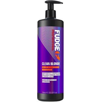 Fudge Clean Blonde Violet Toning Shampoo, 1000ml