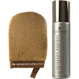 Curasano Spraytan Spray 50 ml + Tanning Handschoen Mini
