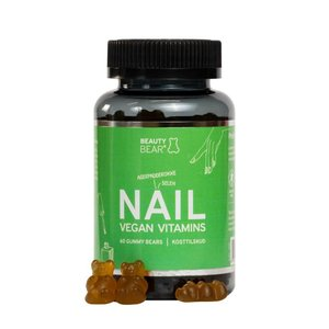 Beauty Bear Hair Vitamines Nail Vitamines, 60 Gummies