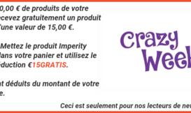 15 € gratuits avec les produits Imperity avec votre commande
