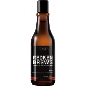 Redken Brew 3-1 Shampoo, Conditioner and Bodywash, 300ml