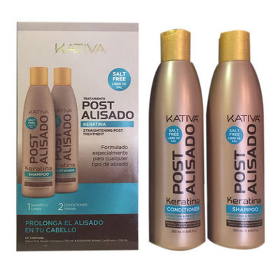 KATIVA BOX Post Alisado Keratina Shampooing Et Revitalisant, 2x250ml