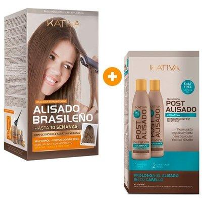 KATIVA Système de lissage brésilien système droit Kit + Box Suivi