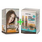 KATIVA Kit de lissage brésilien système rectiligne + Box 3 x Suivi