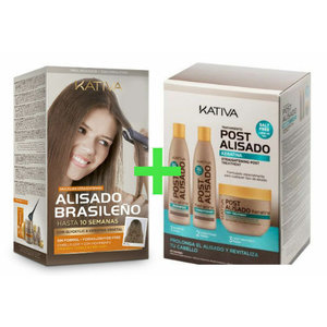KATIVA Braziliaanse smoothing straight-systeem Kit + Box 3 x Naverzorging