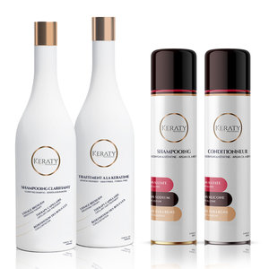 Keraty Professional Brazilian Straightner Kit, 2 x 1000 ml + 2 x 250 ml After care