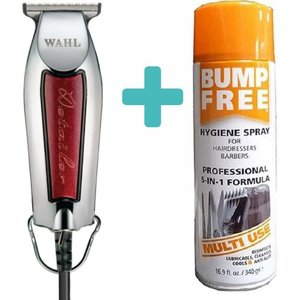 Wahl Trimmer Detailer Chrome / Rood + 68gr Bump Free