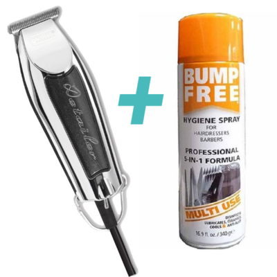 Wahl Trimmer Detailer Zwart + 68gr Bump Free Spray