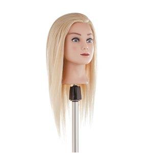 OEFENHOOFD Naturel Haar Blond 35cm - Medium Angora Hair