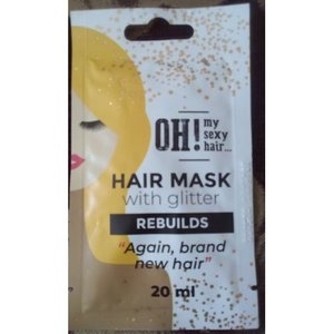 OH! My Sexy Hair Hair mask with Glitter - Rebuild, 20ml