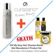 Curasano Spraytan, Spray bronzant, 200 ml + 3 produits cadeau