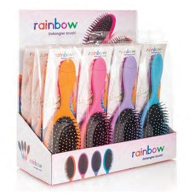 RAINBOW Brosse Démêlante Rose + 1 x 20ml Masque Cheveux Glitter