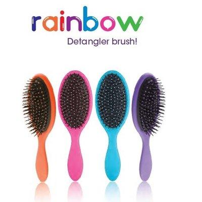 RAINBOW Brosse Démêlante Bleu + 1 x 20ml Masque Cheveux Pailletés
