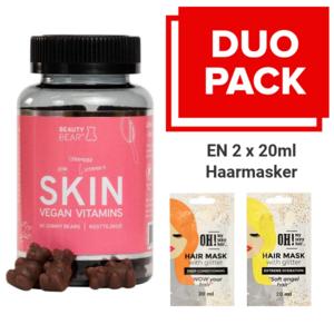BEAUTY BEAR Skin Vitamins, 60 Gummies 2 x 20ml Hair Mask