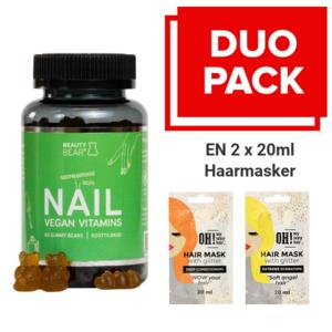 BEAUTY BEAR Nail Vitamins, 60 Gummies + 2 x 20ml Hair Mask