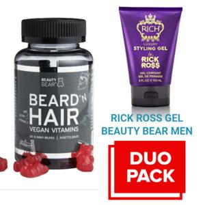 BEAUTY BEAR Hair Vitamines, 60 Gummies - MEN + Rick Ross Gel