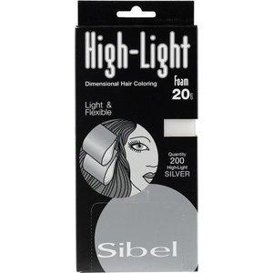 sibel Hi Lite Foam Silver 200 Stk 9,5x20 Cm