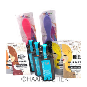 Moroccanoil Treatment 3 x 100 ml + 2 x Kolor Tangle + 4 x Glitter Mask
