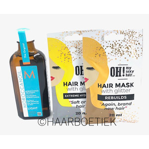 Moroccanoil Treatment Light 100 ml + 2 x 20ml Glitter Hairmask