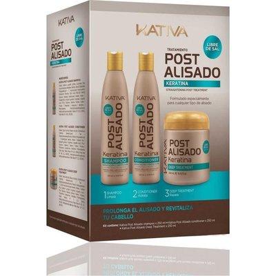 KATIVA Keratina Shampoo 250 ml + Revitalisant 250 ml + Masque 250ml